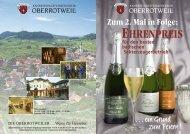 Zum 2. Mal in Folge: - Winzerverein Oberrotweil e.G.