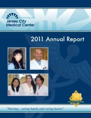 Download the 2011 Nursing Annual Report - Jersey City Medical ...