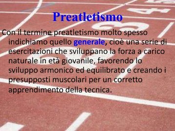 preatletismo specifico
