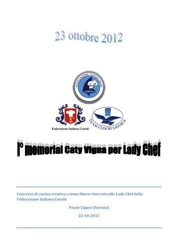 Bando e scheda iscrizione - Federazione Italiana Cuochi