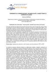TERREMOTO E CONSERVAZIONE: INCANNUCCIATE ...