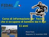 Atletica Leggera - CONI, Piemonte