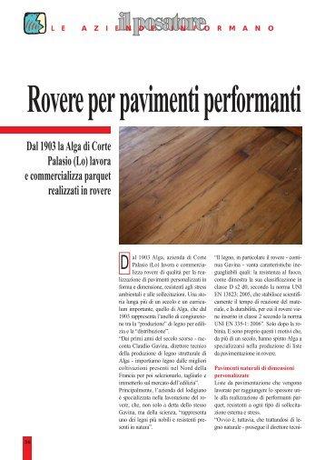 Dal 1903 la Alga di Corte Palasio (Lo) lavora e ... - Alga in Rovere