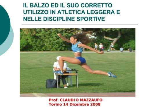 Il corretto utilizzo dei balzi in Atletica Leggera - Fidal Piemonte