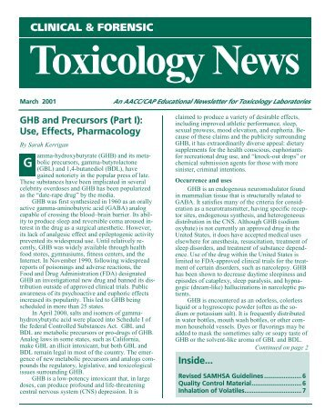CLINICAL & FORENSIC Toxicology News - American Association ...