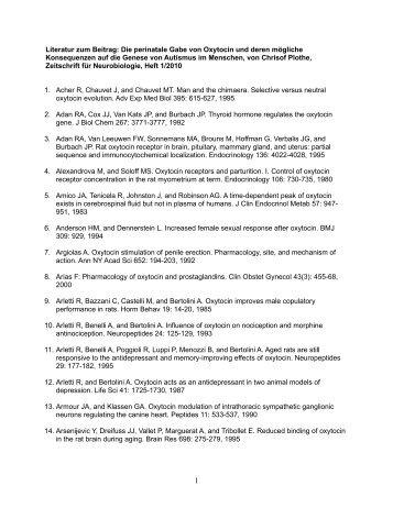Literatur zum Beitrag - INK-Institut für Neurobiologie nach Dr ...