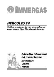 Libretto istruzioni HERCULES 24 - Immergas