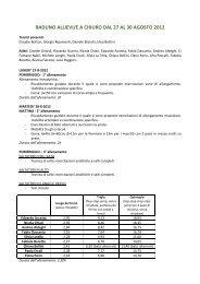 raduno 27-30agosto2012 - Fidal Lombardia