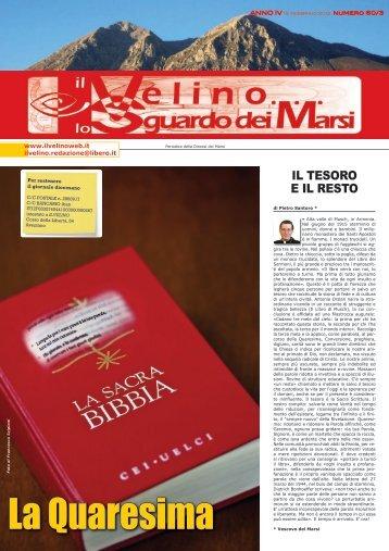 Il Velino, lo Sguardo dei Marsi Anno IV, numero 60/3 del 15 febbraio ...