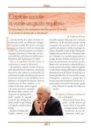 Capitale Sociale: ci vuole un giusto equilibrio di ... - Volontariato Lazio