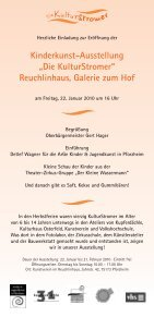 """Kinderkunst-Ausstellung """"Die KulturStromer"""" - Kunstverein ... - Seite 2"""