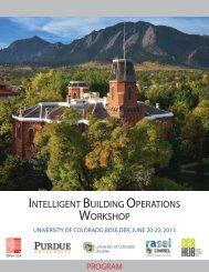 INTELLIGENT BUILDING OPERATIONS WORKSHOP - EEB Hub