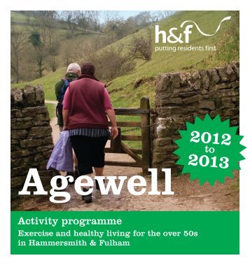 Agewell activities programme - London Borough of Hammersmith ...
