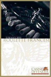 Scarica il regolamento del Torneo 2010 di Roulette francese