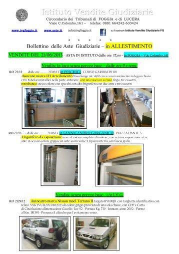 Bollettino delle Aste Giudiziarie - Ivgfoggia.it