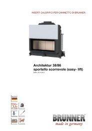 Architektur 38/86 sportello scorrevole (easy- lift) - Brunner