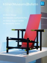 Kölner Museums Bulletin