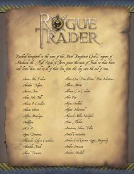 Rogue Trader - Fantasy Flight Games