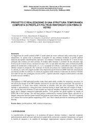 progetto e realizzazione di una struttura temporanea ... - AIAS