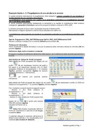 Esempio Guida n. 3: Progettazione di una struttura in acciaio - 2SI