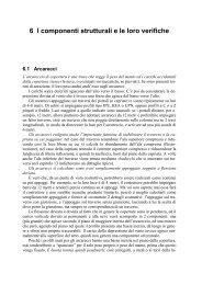 6 I componenti strutturali e le loro verifiche - Manuali Hoepli