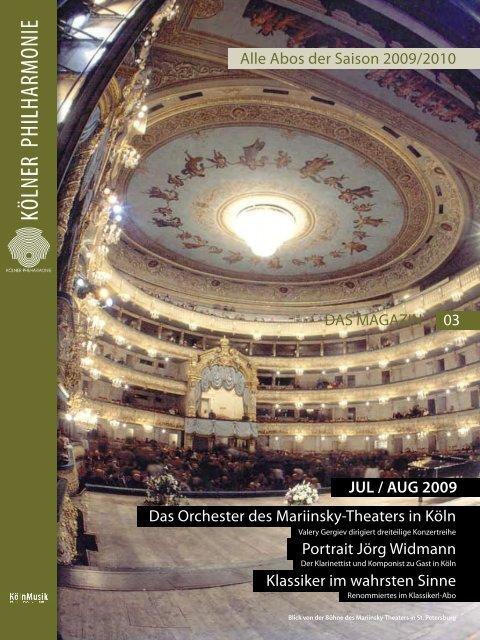 DAS MAGAZIN 07/08 2009 - Kölner Philharmonie