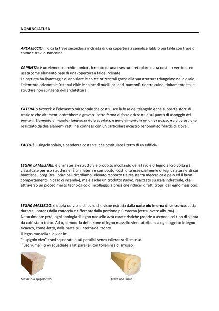 Nomenclatura Tecknowood Coperture In Legno A Bologna