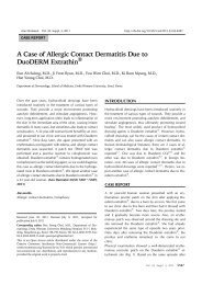 A Case of Allergic Contact Dermatitis Due to DuoDERM Extrathin