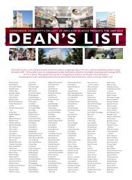Dean's list - Faculty of Arts and Science