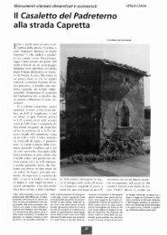 Casaletto del Padreterno alla strada Capretta - Biblioteca ...