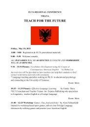 Download Conference Program (click here) - ELTA