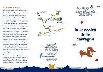 Fattoria didattica – leaflet - Sassi della Luna