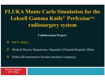 FLUKA Monte Carlo Simulation for the Leksell Gamma Knife ...