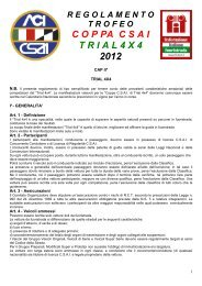 Regolamento Trofeo Coppa CSAI Trial 4x4 2012 - Off Road Web