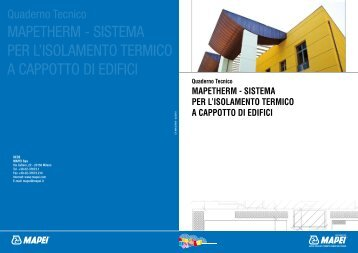 mapetherm - sistema per l'isolamento termico a cappotto di ... - CABOX