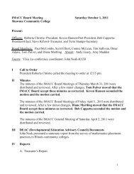 October 1, 2011, Board Meeting - Illinois Mathematics Association of ...