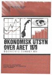ØKONOMISK UTSYN. OVER ÅRET 1979 - SSB