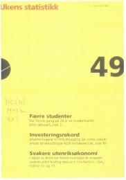 Ukens Statistikk 1998, 49 - SSB
