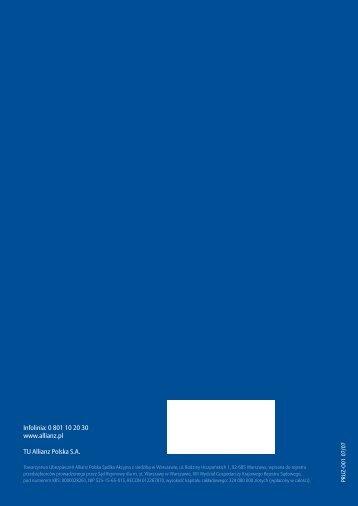 Ogólne warunki ubezpieczenia przedsiębiorstw od utraty ... - Allianz