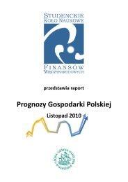 Prognozy Gospodarki Polskiej - Studenckie Koło Naukowe ...
