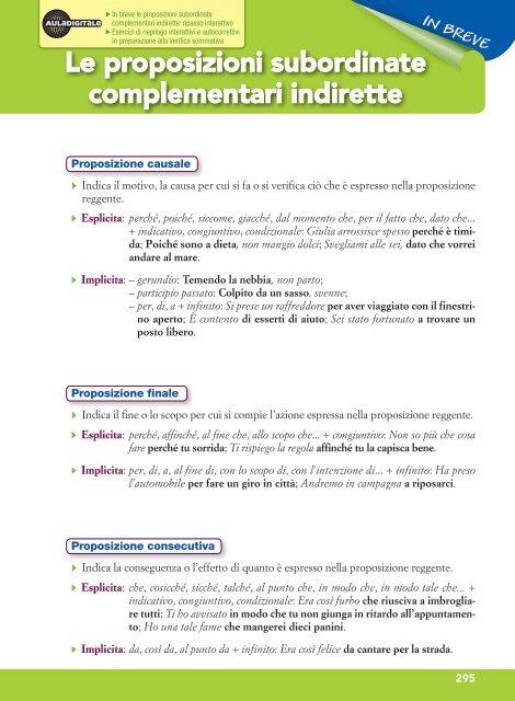 Le Proposizioni Subordinate Complementari Indirette Ciaociaobyby