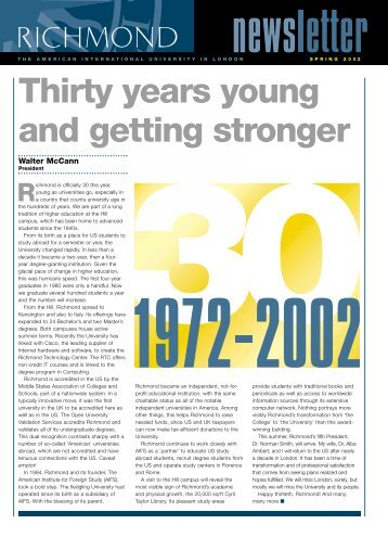 Thirty years young and getting stronger - Richmond - The American ...