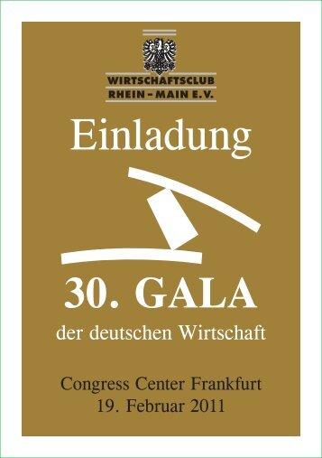 30. GALA - Wirtschaftsclub Rhein-Main e.V.