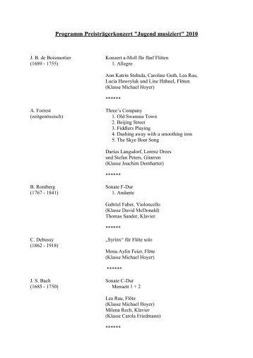 """Programm Preisträgerkonzert """"Jugend musiziert"""" 2007 - Wetzlarer ..."""