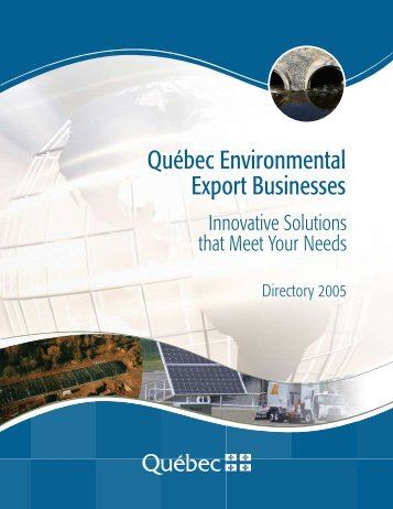 Québec Environmental Export Businesses - Internal System Error
