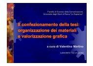 Il confezionamento della tesi - Dipartimento di Comunicazione e ...