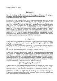 Elternbeitragssatzung KiBiz vom 30.01.2008 - Kreis Paderborn