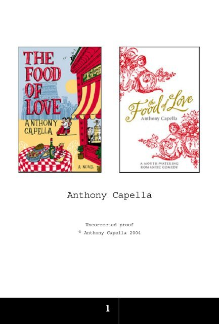 the food of love capella anthony