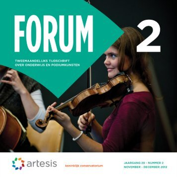 Forum 2, november - december, jaargang 20 - Artesis Hogeschool ...