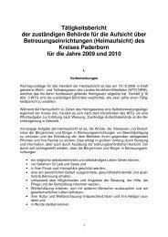 Heimaufsicht Bericht 2009-2010 - Kreis Paderborn